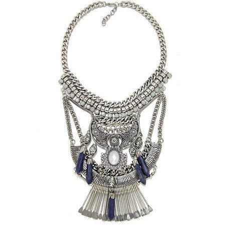 Blue Crystal Pendant Necklace - Her Teen Dream