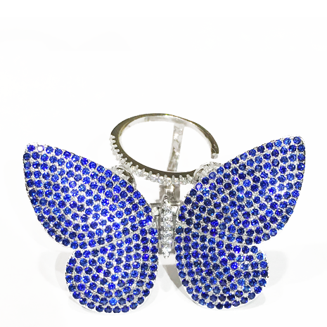 Movable Butterfly Ring - Blue - Her Teen Dream