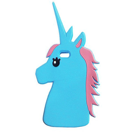 Magical Unicorn Silicone iPhone Case - Blue - Her Teen Dream