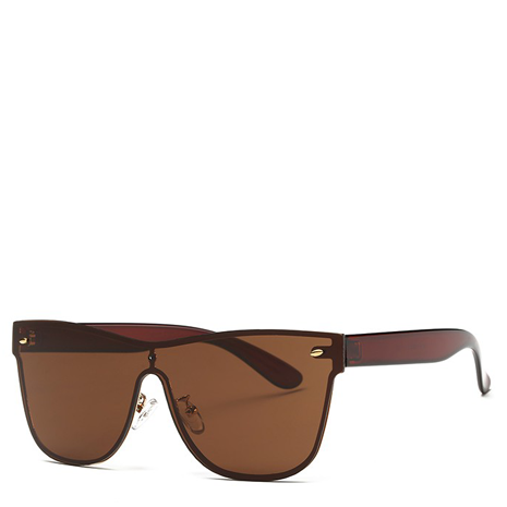 Aya Brown Rimless Sunglasses - Her Teen Dream