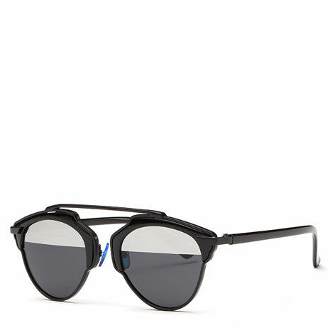 Butterfly Rimmed Sunglasses - Black - Her Teen Dream