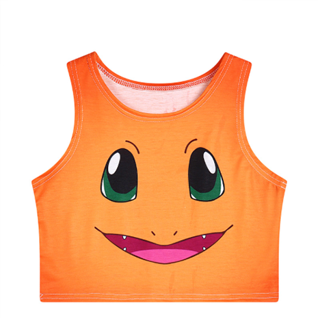Pokémon Charmander Crop Top - Her Teen Dream