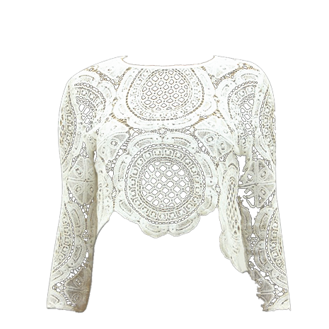 Crochet Lace Crop Top - Her Teen Dream