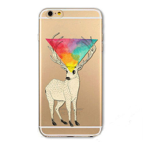 TPU Abstract Deer iPhone Case - Her Teen Dream