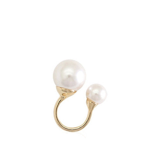 Double Pearl Ring - Her Teen Dream