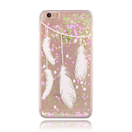 Liquid Feather Glitter Case - Her Teen Dream