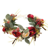 Floral Garland Headband - Red Rose - Her Teen Dream