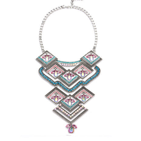 Geometric Rainbow Necklace - Her Teen Dream