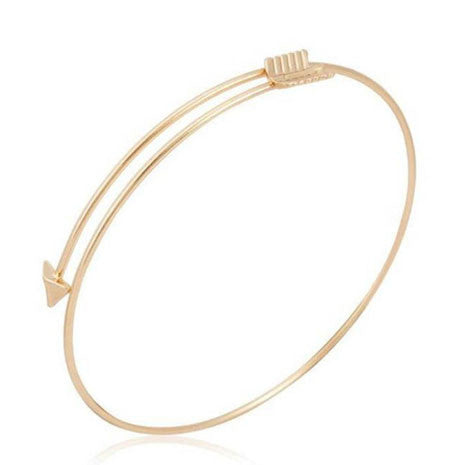 Gold Arrow Bangle - Her Teen Dream