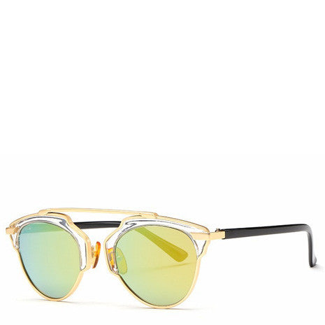 Butterfly Rimmed Sunglasses - Gold - Her Teen Dream