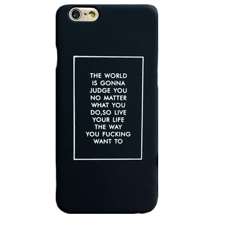 Judge Quote iPhone Case - Her Teen Dream