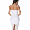 Lace Body Con Dress- White - Her Teen Dream