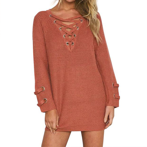 Oversized Lace Sweater - Sahara - Her Teen Dream