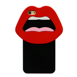 Silicone 3D Red Lips iPhone Case