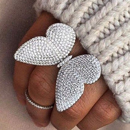 Movable Butterfly Ring - XL White (Limited Edition!) - Her Teen Dream