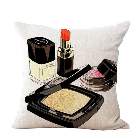 Makeup Products Beauty Pillow Cover - Her Teen Dream