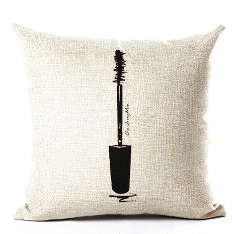 Mascara Wand Beauty Pillow Cover - Her Teen Dream