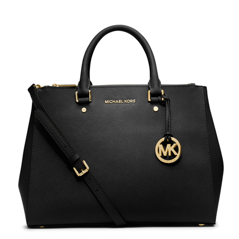 Michael Kors Large Black Sutton Handbag - Her Teen Dream
