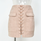Lace up Skirt - Nude - Her Teen Dream