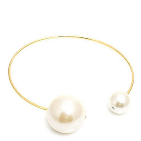 Oversized Pearl Choker Necklace - Her Teen Dream