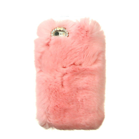 Furry Pastel Pink iPhone Case - Her Teen Dream