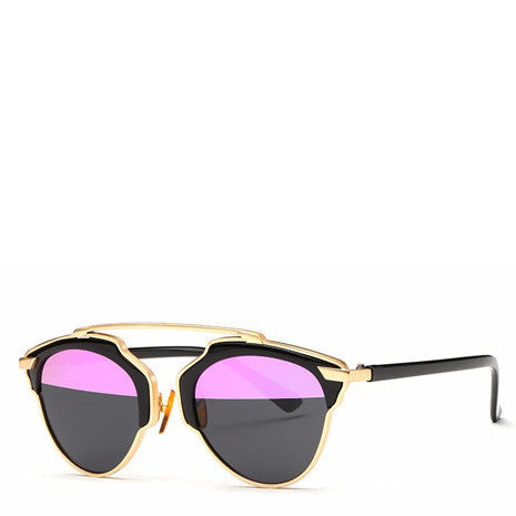 Butterfly Rimmed Sunglasses - Pink Purple - Her Teen Dream