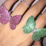 Movable Butterfly Ring - Rose - Her Teen Dream - Her Teen Dream