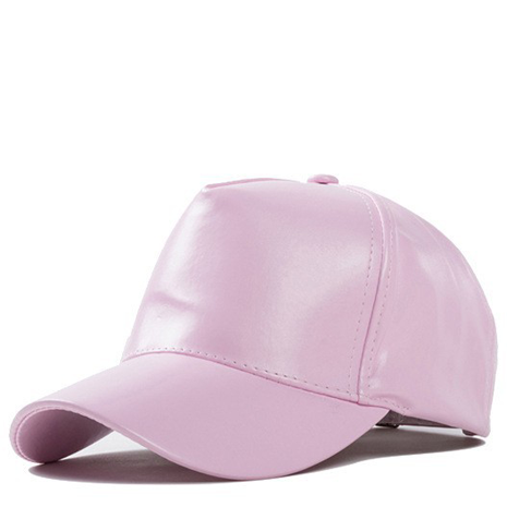 Pink Faux Leather Hat - Her Teen Dream