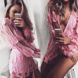 Pink Feather Playsuit - Her Teen Dream