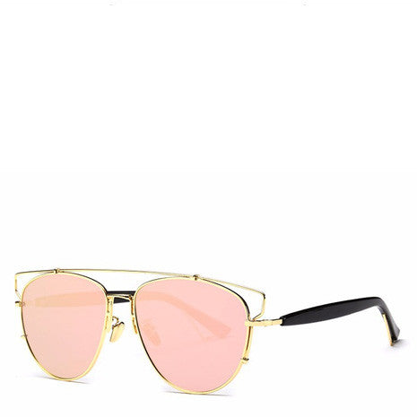 Alessa Aviator Sunglasses - Pink Gold - Her Teen Dream