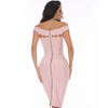 Hollow Body Con Dress- Blush - Her Teen Dream