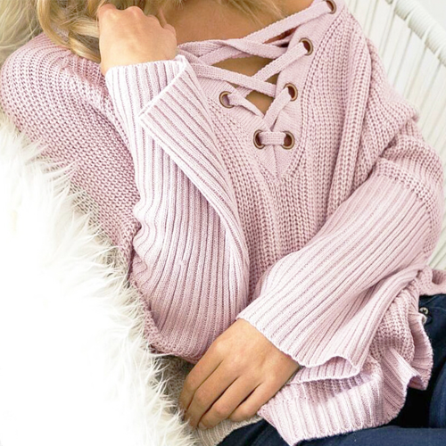 High-Low Pink Sweater - Her Teen Dream