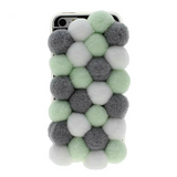 Fuzzy Green Puff Ball iPhone Case - Her Teen Dream