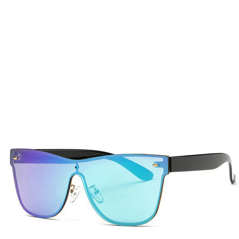 Aya Purple Blue Ombre Rimless Sunglasses - Her Teen Dream
