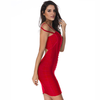 Strapped Bandage Dress- Red - Her Teen Dream
