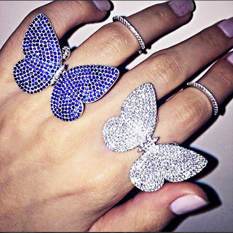 Movable Butterfly Ring - Black (Limited Edition!) - Her Teen Dream