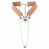 Double Layered Choker - Tan - Her Teen Dream