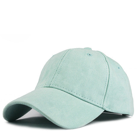 Teal Suede Snapback - Her Teen Dream