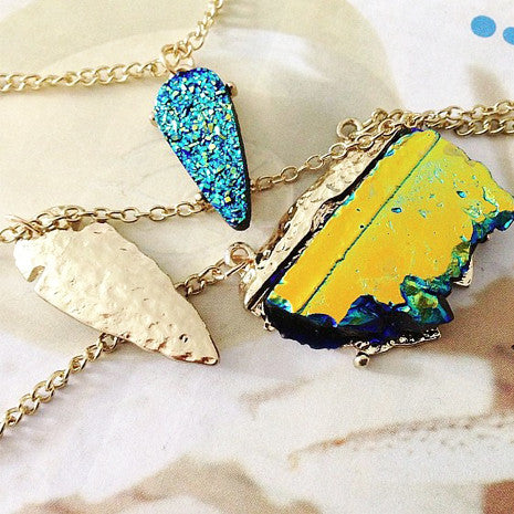 Three Layered Turquoise Necklace - Her Teen Dream