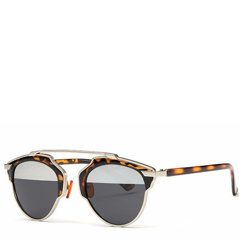 Butterfly Rimmed Sunglasses - Tortoise - Her Teen Dream
