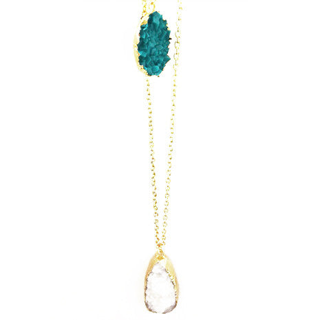 Turquoise Teardrop Pendant - Her Teen Dream