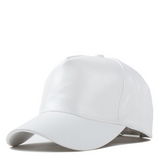 Cream Faux Leather Hat - Her Teen Dream