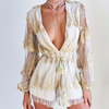 White Gold Feather Playsuit - Her Teen Dream