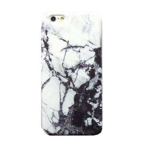 Marble Texture Black/White iPhone Case - Her Teen Dream