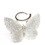 Movable Butterfly Ring - White - Her Teen Dream