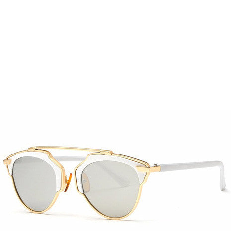 Butterfly Rimmed Sunglasses - White - Her Teen Dream