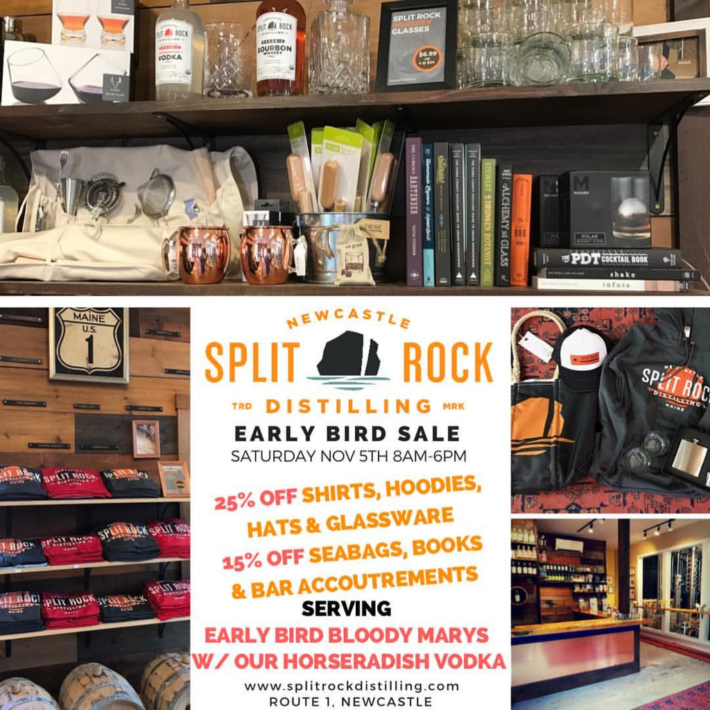 Early Bird Sale at the Distillery 8-6pm Saturday Nov. 5th
