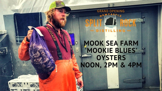 Grand Opening Friday: Split Rock Organic Horseradish Vodka with Mook Sea Farm Oysters