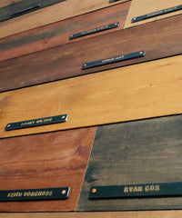 Boards and Names in the Split Rock Tasting Room