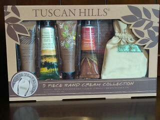 Gift Wrapped Tuscan Hills 5 Piece Hand Cream Collection